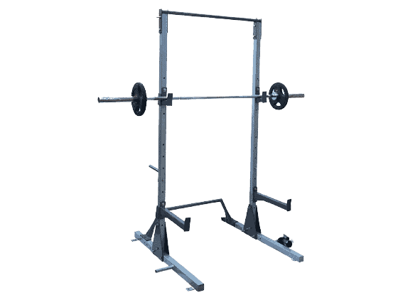 FITNESS YOUTH Multi Function Adjustable Power Rack Squat Stand with J Hooks Land Mine Adjustable Weight Horns 2