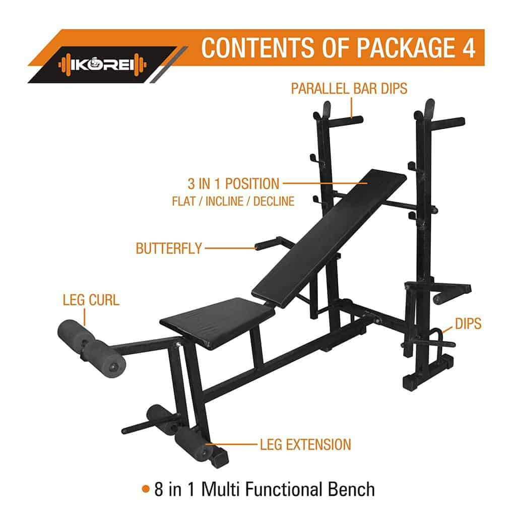 Kore 8 in 1 gym bench
