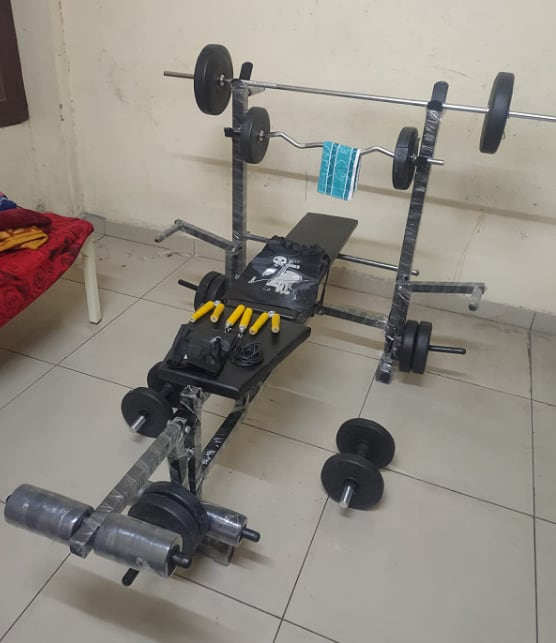 Bodyfit 50kg home gym set with bench