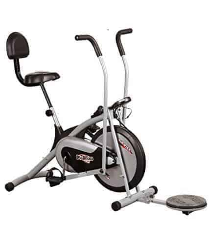 Body Gym Air Bike Platinum DX Exercise Cycle With Back Twister